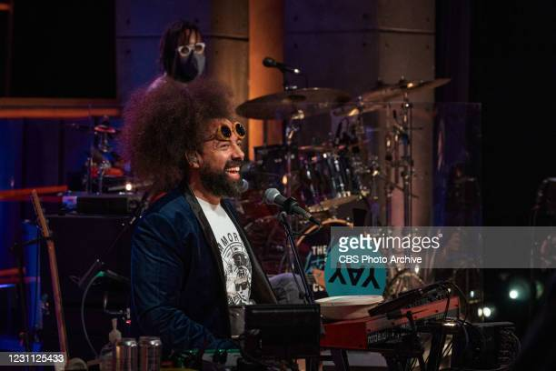 The Late Late Show with James Corden airing Wednesday, February 10 with guests Noah Centineo and Madison Cunningham. Pictured with: Reggie Watts,...