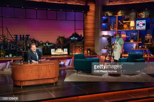 The Late Late Show with James Corden airing Wednesday, February 10 with guests Noah Centineo and Madison Cunningham. Pictured with: Peter Hutchison.