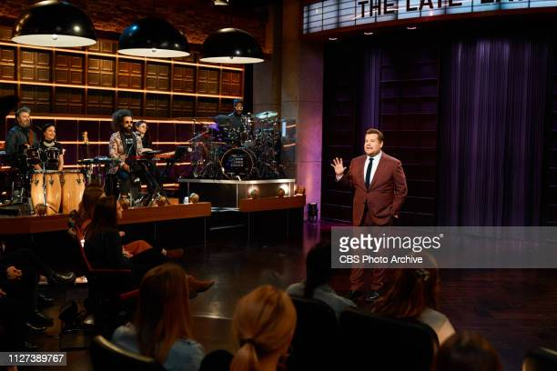 The Late Late Show with James Corden airing Wednesday February 20 with guests Kate Walsh Stephen Merchant and music from Natalie Prass Pictured Tim...