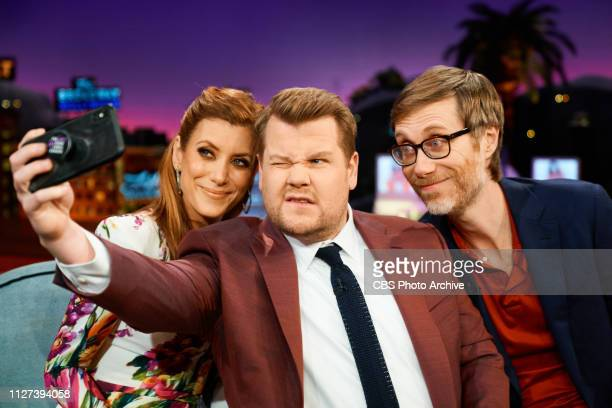 The Late Late Show with James Corden airing Wednesday February 20 with guests Kate Walsh Stephen Merchant and music from Natalie Prass