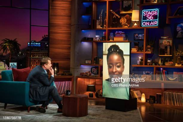 The Late Late Show with James Corden airing Wednesday, January 21 with guests Regina King and Amanda Gorman.