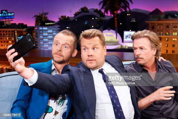 The Late Late Show with James Corden airing Wednesday July 25 with guests Simon Pegg and David Spade