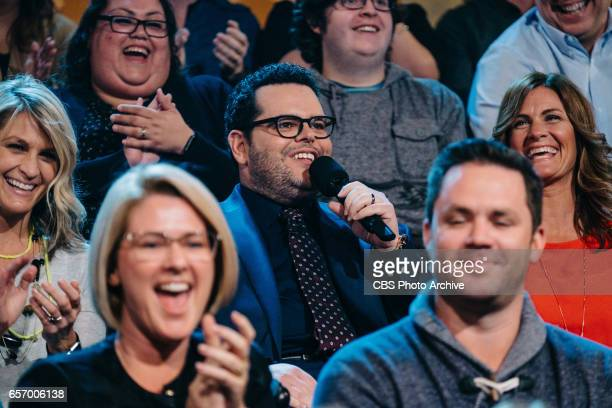 The Late Late Show with James Corden airing Wednesday March 22 with guests Judy Greer Josh Gad and Maggie Rogers Pictured Josh Gad