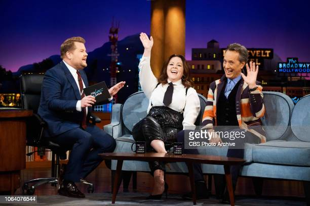 The Late Late Show with James Corden airing Wednesday November 14 with guests Melissa McCarthy Richard E Grant and standup comic Ian Karmel