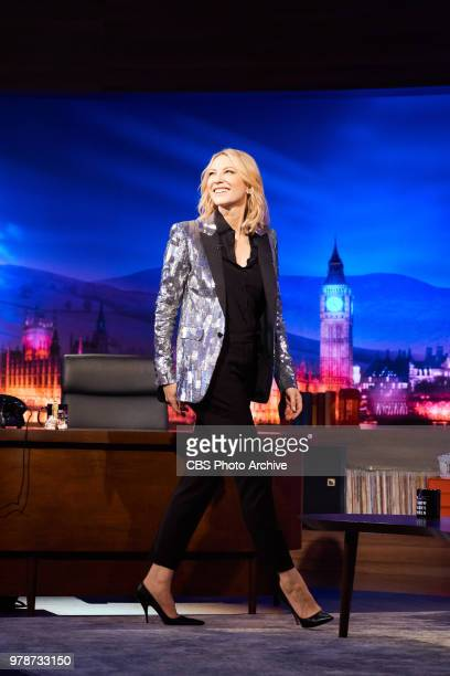 The Late Late Show with James Corden in London airing Monday June 18 with guests Cate Blanchett Orlando Bloom and Niall Horan Pictured Cate Blanchett