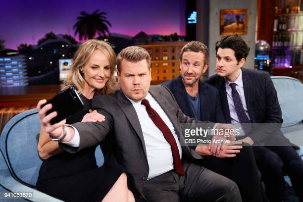 The Late Late Show with James Corden with guests Helen Hunt Chris O'Dowd and Ben Schwartz airing Thursday March 29 2018 on the CBS Television Network