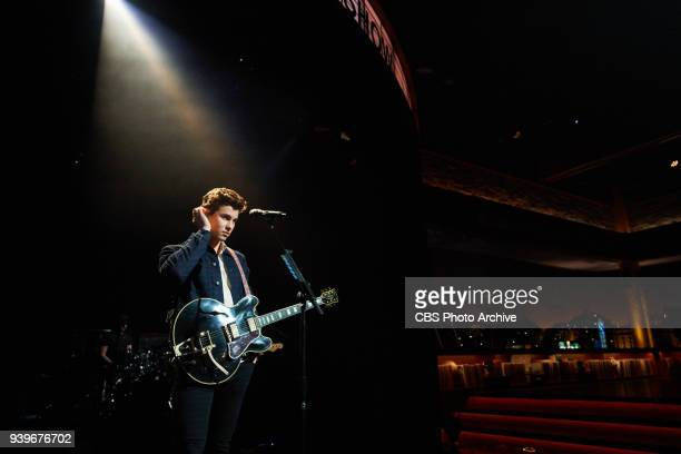 The Late Late Show with James Corden with musical guest Shawn Mendes airing Wednesday March 28 2018 on the CBS Television Network