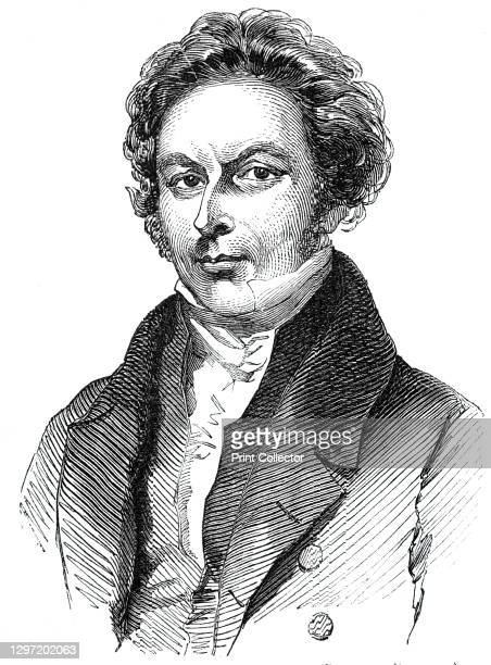 The late Mr. Thomas Hudson, 1844. Portrait of Hudson, a British writer and performer of comic songs - one of the earliest credited songwriters in the...