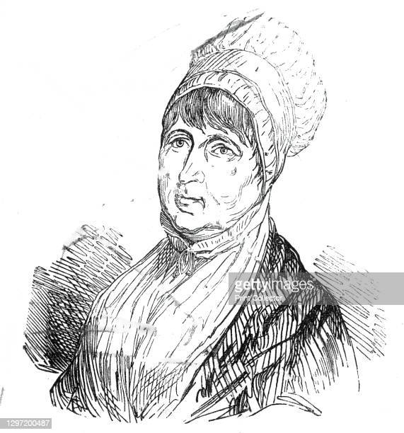 The late Mrs. Fry, 1845. Portrait of 'the excellent and philanthropic lady', British prison reformer Elizabeth Fry, '...who for so many years devoted...