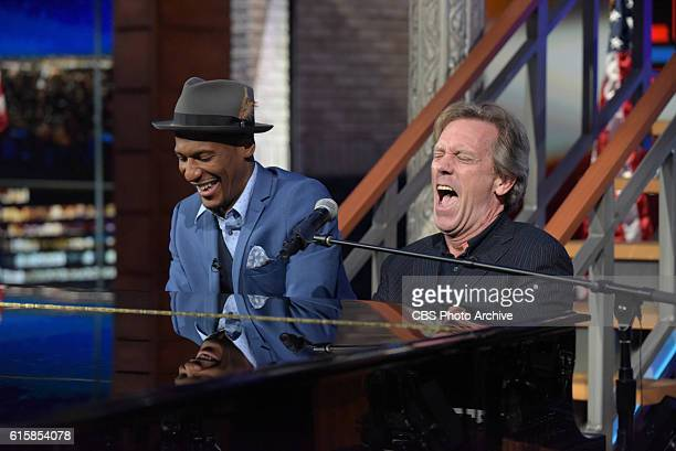 The Late Show with John Batiste and Hugh Laurie during Wednesday's 10/19/16 taping in New York