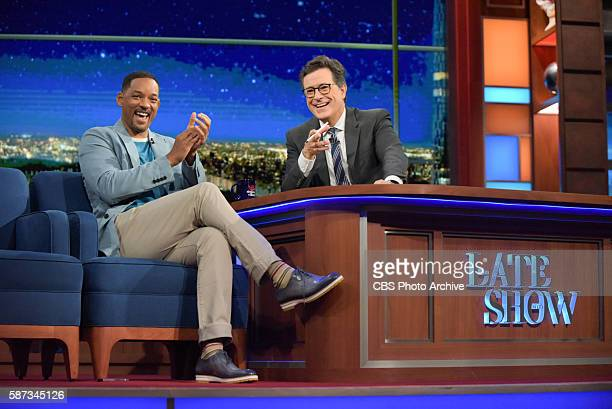 The Late Show with Stephen Colbert airing live Tuesday August 2 2016 in New York With guest Will Smith