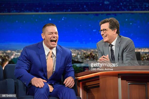 The Late Show with Stephen Colbert airing live Wednesday August 3 2016 in New York With guest John Cena