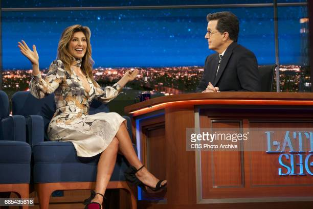 The Late Show with Stephen Colbert airing Monday April 3 2017 with Jason Sudeikis Jennifer Esposito musical performance by Joey Bada$$