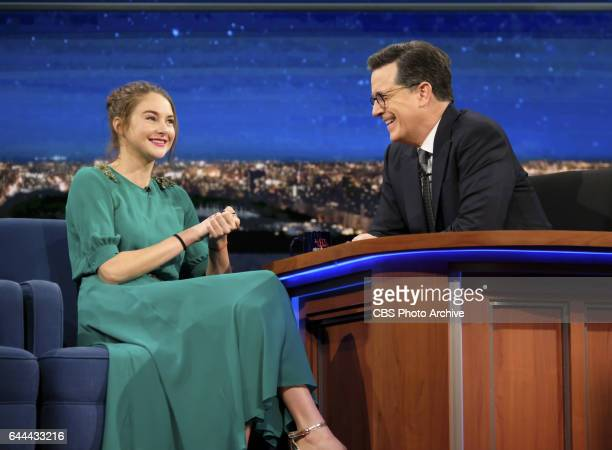 The Late Show with Stephen Colbert airing Monday February 13 2017 with Shailene Woodley