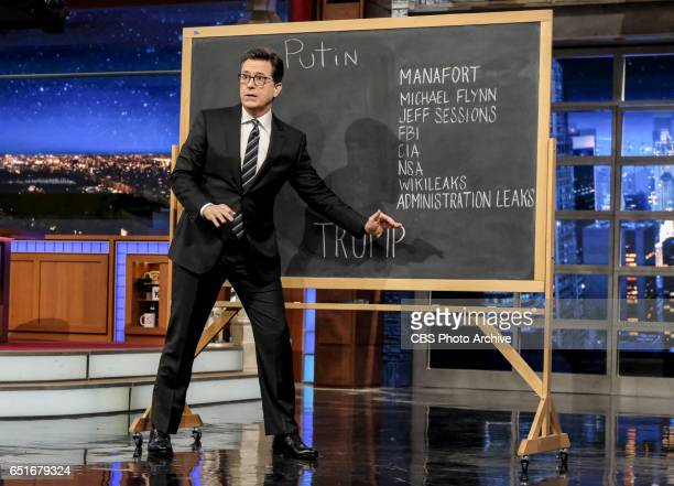 The Late Show with Stephen Colbert airing Monday March 6 2017 with Anderson Cooper Judd Apatow and musical performance by Jidenna