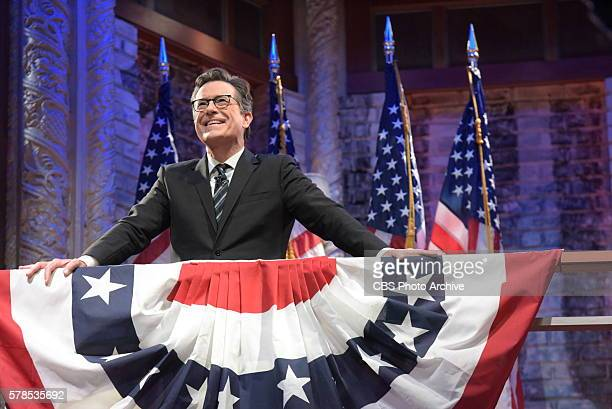The Late Show with Stephen Colbert airing tonight Monday July 25 2016 with guests John Stewart and Zoe Saldana in New York