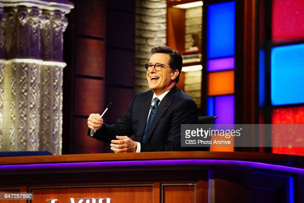 The Late Show with Stephen Colbert airing Tuesday February 28 2017 with Lisa Kudrow former White House Press Secretary Josh Earnest comedian Tony Rock