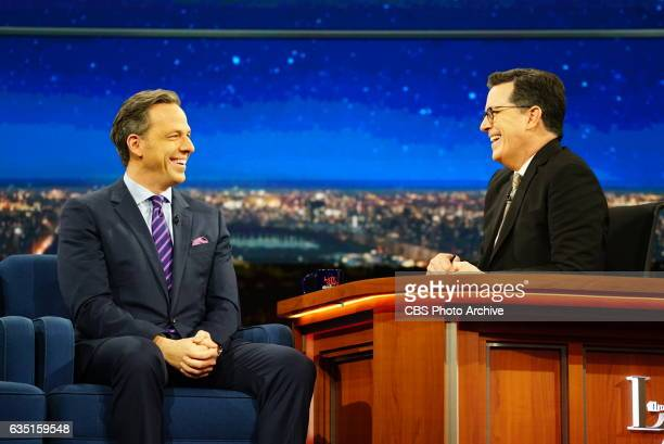 The Late Show with Stephen Colbert airing Wednesday February 8 2017 with guest Jake Tapper