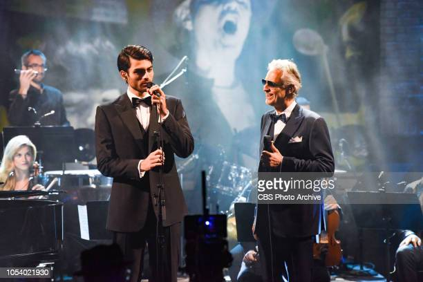 The Late Show with Stephen Colbert and Andrea & Matteo Bocelli during Thursday's October 25, 2018 show.
