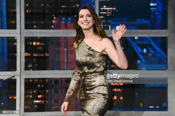 The Late Show with Stephen Colbert and Anne Hathaway during Thursday's May 24 2018 show