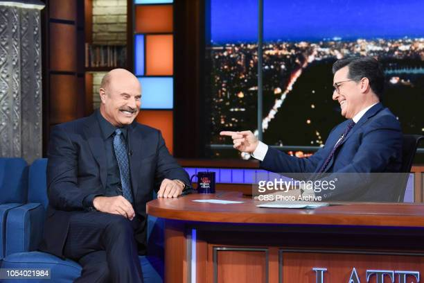 The Late Show with Stephen Colbert and Dr Phil McGraw during Friday's October 26 2018 show