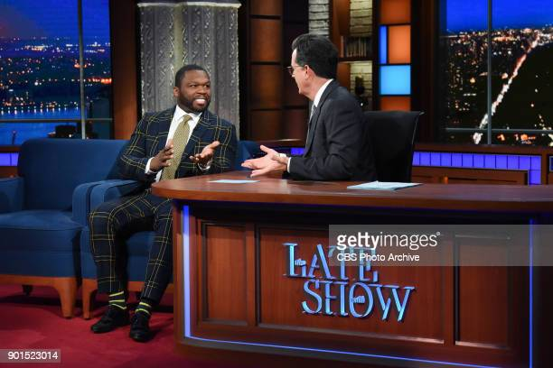 The Late Show with Stephen Colbert and guest 50 Cent during Thursday's January 4 2018 show