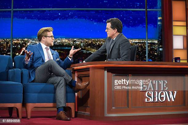 The Late Show with Stephen Colbert and guest Adam Conover during Monday's 10/24/16 show in New York