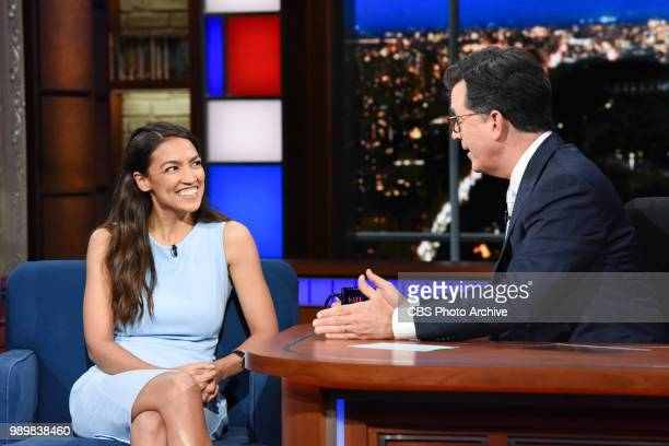 The Late Show with Stephen Colbert and guest Alexandria OcasioCortez during Thursday's June 28 2018 show