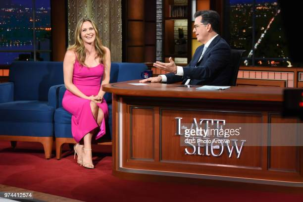 The Late Show with Stephen Colbert and guest Alicia Silverstone during Monday's June 11 2018 show