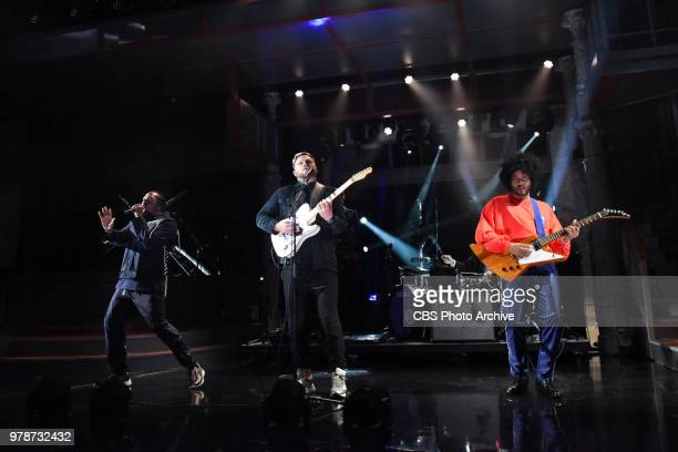 The Late Show with Stephen Colbert and guest AltJ featuring Pusha T and Twin Shadow during Thursday's June 14 2018 show