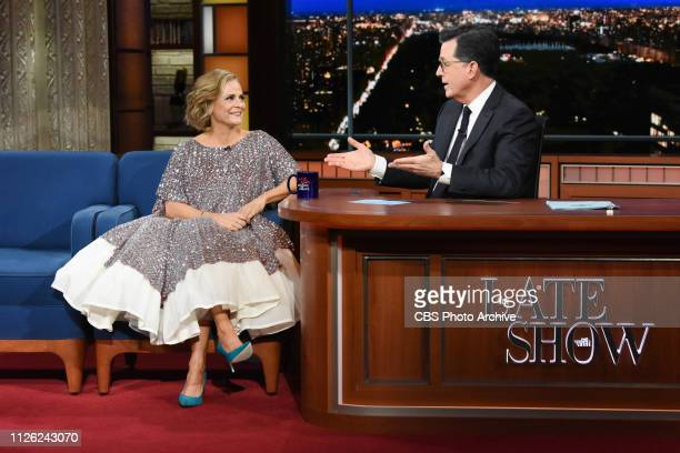 The Late Show with Stephen Colbert and guest Amy Sedaris during Monday's February 18 2019 show
