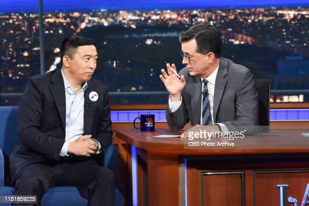 The Late Show with Stephen Colbert and guest Andrew Yang during Monday's June 24 2019 show