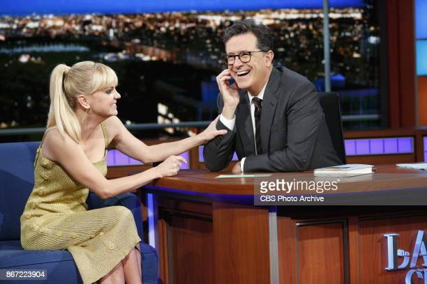 The Late Show with Stephen Colbert and guest Anna Faris during Monday's October 23 2017 show