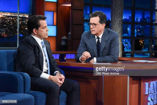 The Late Show with Stephen Colbert and guest Anthony Scaramucci during Monday's August 14 2017 show