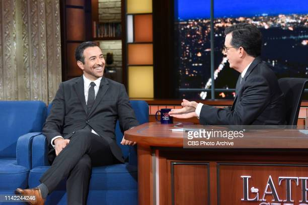 The Late Show with Stephen Colbert and guest Ari Melber during Tuesday's May 7 2019 show