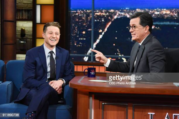 The Late Show with Stephen Colbert and guest Ben McKenzie during Thursday's January 25 2018 show