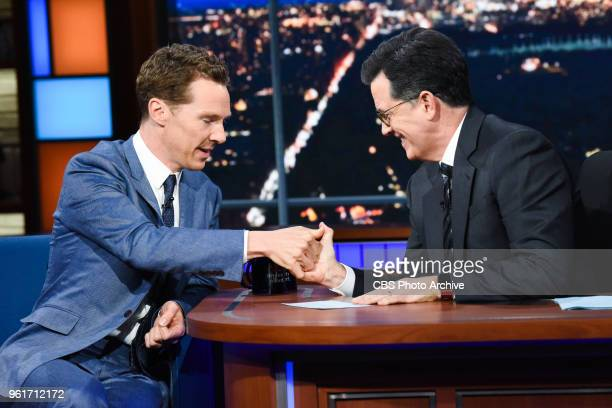 The Late Show with Stephen Colbert and guest Benedict Cumberbatch during Friday's May 18 2018 show