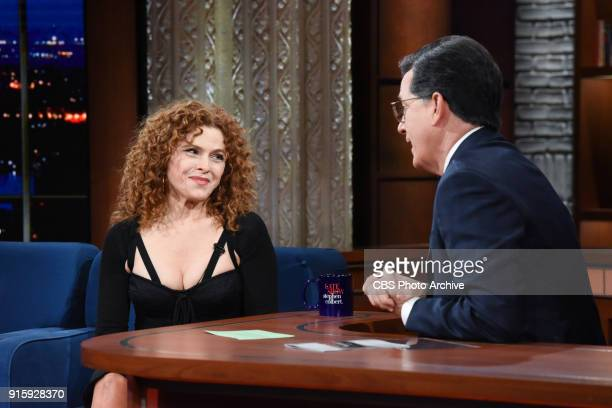The Late Show with Stephen Colbert and guest Bernadette Peters during Monday's February 5 2018 show
