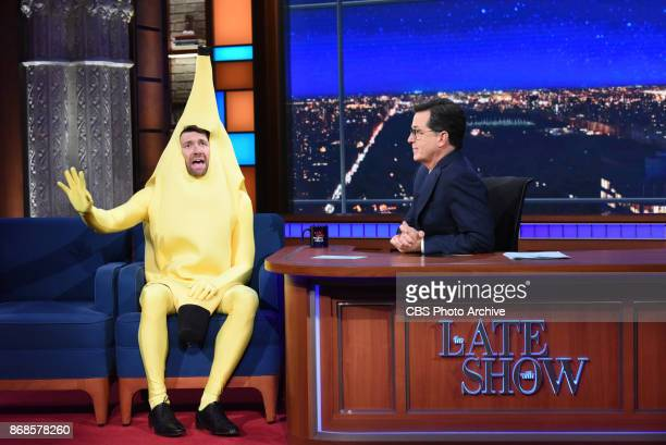 The Late Show with Stephen Colbert and guest Billy Eichner during Monday's October 30 2017 show