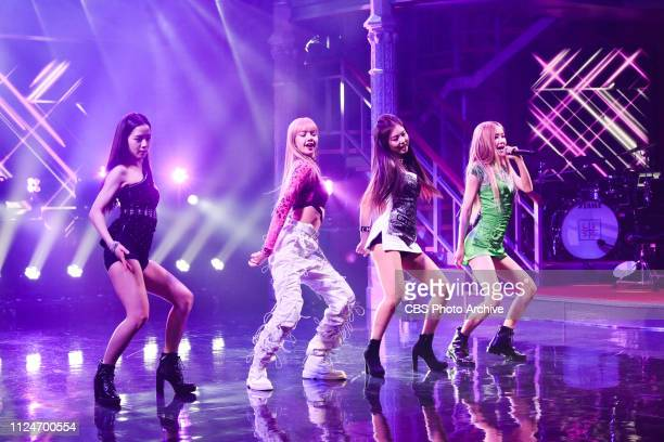 The Late Show with Stephen Colbert and guest BLACKPINK during Monday's February 11 2019 show