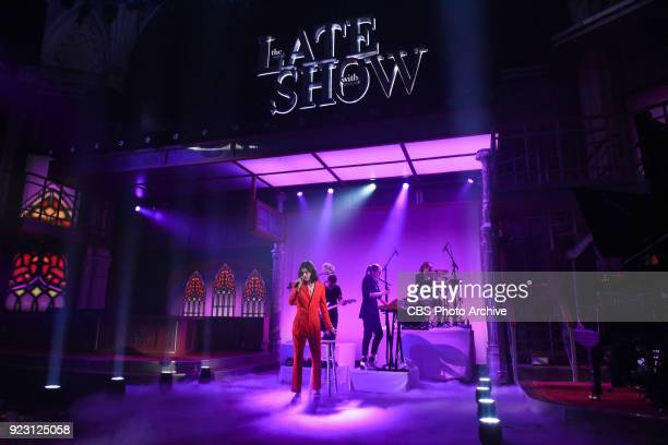 The Late Show with Stephen Colbert and guest Borns during Wednesday's February 21 2018 show