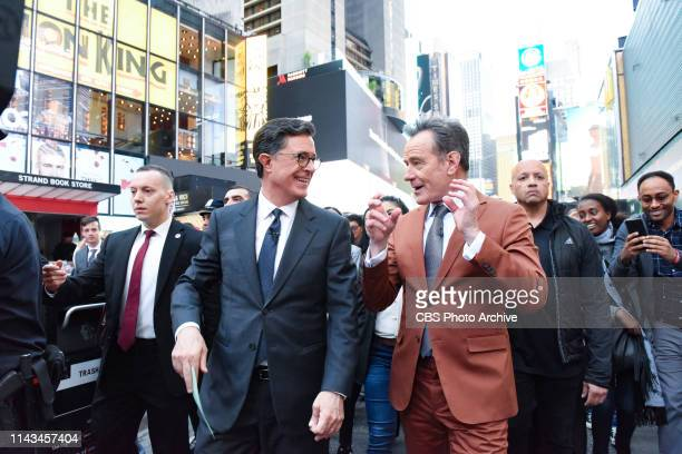The Late Show with Stephen Colbert and guest Bryan Cranston during Friday's May 10 2019 show