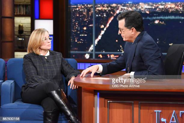 The Late Show with Stephen Colbert and guest Carmen Yulin Cruz during Wednesday's November 29 2017 show
