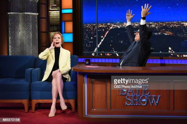 The Late Show with Stephen Colbert and guest Carol Burnett during Friday's December 1 2017 show