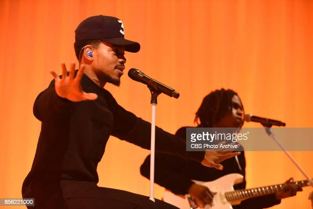 The Late Show with Stephen Colbert and guest Chance the Rapper during Monday's September 25 2017 show