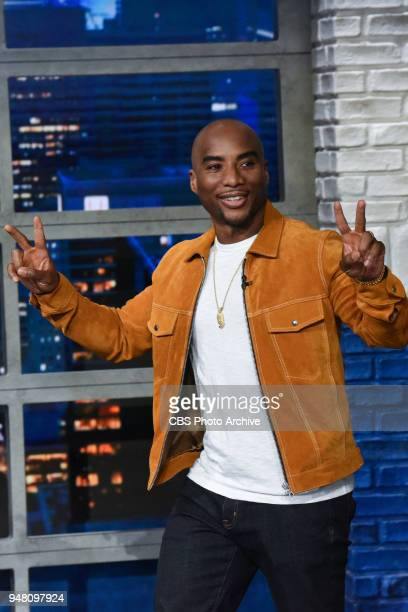 The Late Show with Stephen Colbert and guest Charlamagne Tha God during Monday's April 16 2018 show