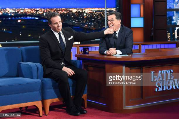The Late Show with Stephen Colbert and guest Chris Cuomo during Thursday's January 23 2020 show