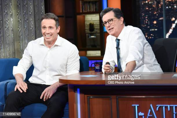 The Late Show with Stephen Colbert and guest Chris Cuomo during Thursday's May 2 2019 show