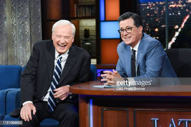 The Late Show with Stephen Colbert and guest Chris Matthews during Tuesday's June 18 2019 show