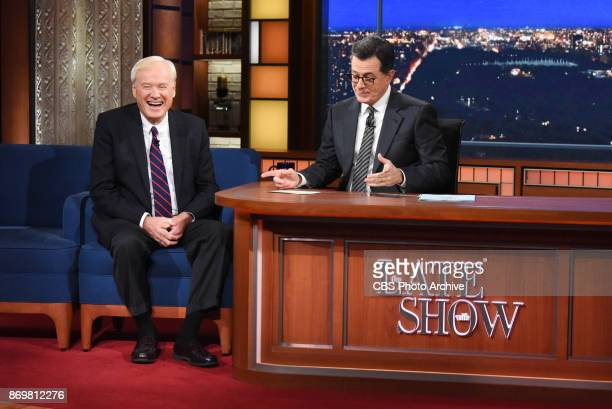 The Late Show with Stephen Colbert and guest Chris Matthews during Tuesday's October 31 2017 show